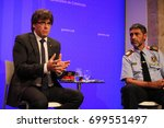 Small photo of BARCELONA/SPAIN - 20 AUGUST 2017: Press conference of presidente of Catalonia Carles Puigdemont, major of police Mr. Trapero and catalan minister of interior Forn. Credit: Dino Geromella/Shutterstock