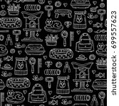 vector seamless pattern with... | Shutterstock .eps vector #699557623
