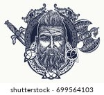 viking tattoo  symbol of force  ... | Shutterstock .eps vector #699564103
