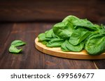 Fresh Juicy Spinach Leaves On ...