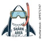 shark illustration with typo... | Shutterstock .eps vector #699571747