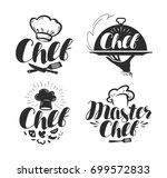 chef  cook logo or label.... | Shutterstock .eps vector #699572833