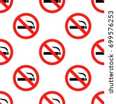 no smoking sign pattern... | Shutterstock .eps vector #699576253