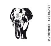 elephant  black and white image.... | Shutterstock .eps vector #699581497