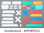 colorful and white different...   Shutterstock .eps vector #699589213