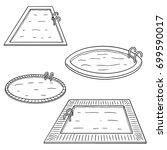 vector set of swimming pool | Shutterstock .eps vector #699590017