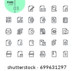 set of business office icons.... | Shutterstock .eps vector #699631297