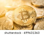 bitcoin gold coin.... | Shutterstock . vector #699631363
