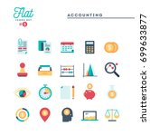 accounting  paperwork ... | Shutterstock .eps vector #699633877
