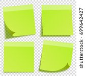 sticky note with shadow... | Shutterstock .eps vector #699642427