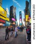 new york  usa   april 25  2015  ... | Shutterstock . vector #699646183