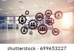 cogwheels and gears mechanism...   Shutterstock . vector #699653227