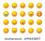 creative set cartoon style... | Shutterstock .eps vector #699653857