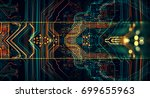 3d illustration. circuit board... | Shutterstock . vector #699655963