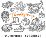 thanksgiving autumn festival... | Shutterstock .eps vector #699658597