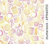 oktoberfest seamless pattern... | Shutterstock .eps vector #699660553