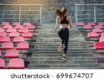 Runner Athlete Running On...