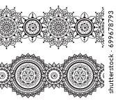 seamless indian borders vector...   Shutterstock .eps vector #699678793
