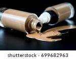cosmetic liquid foundation... | Shutterstock . vector #699682963