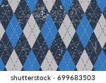 clasic argyle aged pattern.... | Shutterstock .eps vector #699683503