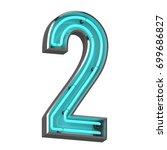 3d neon number two | Shutterstock . vector #699686827