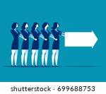 business team walking follow... | Shutterstock .eps vector #699688753