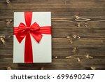 white new year or christmas... | Shutterstock . vector #699690247