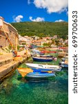 petrovac  montenegro  01.07... | Shutterstock . vector #699700633