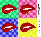 pop art comic lips background
