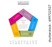 pentagon business infographics... | Shutterstock .eps vector #699722527