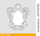 banners ribbons cartouche.... | Shutterstock .eps vector #699733783