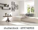 idea of white room with sofa... | Shutterstock . vector #699748903