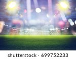 stadium in lights and flashes... | Shutterstock . vector #699752233