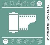 photographic film cassette icon | Shutterstock .eps vector #699753763