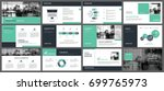 green presentation templates... | Shutterstock .eps vector #699765973