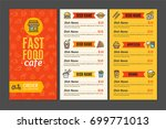 fastfood and street food menu... | Shutterstock .eps vector #699771013