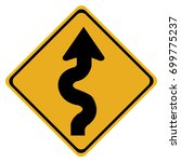 winding road sign isolated on... | Shutterstock .eps vector #699775237
