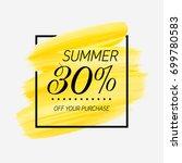 summer sale 30  off sign over... | Shutterstock .eps vector #699780583