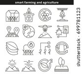 smart farming and agriculture... | Shutterstock .eps vector #699781123