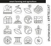 smart farming and agriculture...   Shutterstock .eps vector #699781147