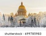 winter view of st. isaac's... | Shutterstock . vector #699785983