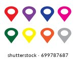 location red yellow blue green... | Shutterstock .eps vector #699787687