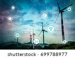 renewable energy and internet... | Shutterstock . vector #699788977
