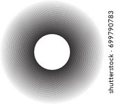 lines in circle form . vector... | Shutterstock .eps vector #699790783