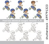 the educational kid matching... | Shutterstock .eps vector #699791323