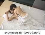 gorgeous couple is having sex... | Shutterstock . vector #699793543