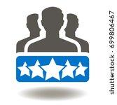 business client satisfaction... | Shutterstock .eps vector #699806467