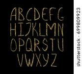 vector golden alphabet. unique... | Shutterstock .eps vector #699809923