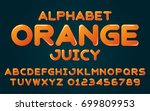orange juicy set style... | Shutterstock .eps vector #699809953