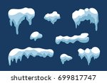 snow ice icicle set winter... | Shutterstock .eps vector #699817747